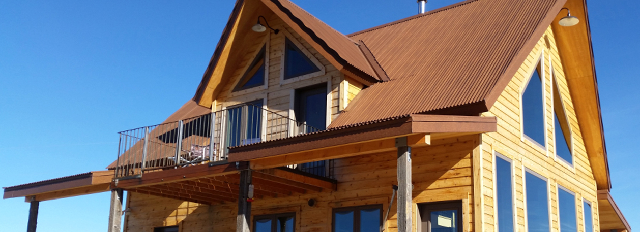 Weathered Copper Standing Seam Metal Roofing